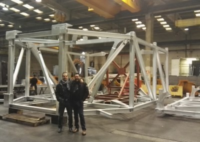 Galvanized offshore rear frame assembling test